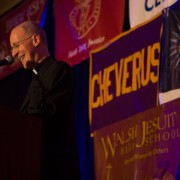 Keynote Fr. James Martin, S.J. fires up the crowd at Ignatian Family Teach-In for Justice 2013.