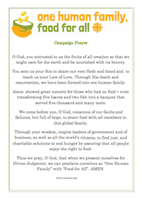 Prayer: One Human Family with Food for All