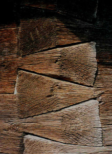 Giant dovetails [the angle is not 90 but 120 degrees] from the altar of a wooden church in Valcea County, XIX century, Romania Photo Credit: fusion of horizons//flickr
